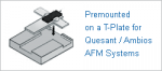 AFM probe premounted on a T-Plate for Quesant / Ambios AFM systems